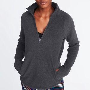 Old Navy Micro Fleece Zip Pullover Long Sleeve Top
